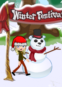 Dizzywood Winter Festival Sign