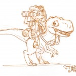Girl on Dinosaur