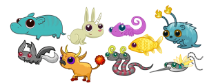 Dizzywood Crystal Critters Collection
